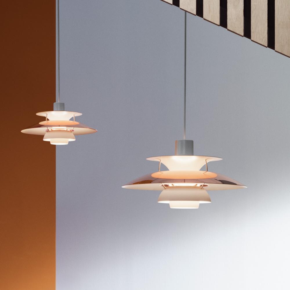 Seriøst Louis Poulsen PH 5 Mini Kobber taklampe - Mitt Hjem As XI-72