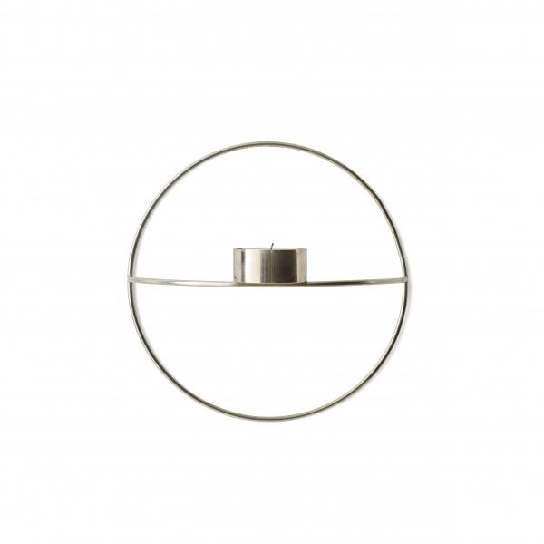 Opprinnelig Menu POV Circle telysholder vegg sort small - Mitt Hjem As AC-48