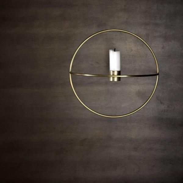 Bare ut Menu POV Circle lysholder vegg messing small - Mitt Hjem As FQ-67